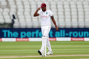 Shannon Gabriel takes his cap and walk off mid-over, England v West Indies, 3rd Test, Old Trafford, 1st day, July 24, 2020