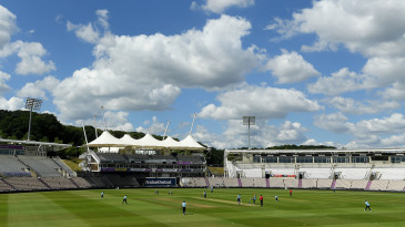 Empty white and cream seats could cause visibility issues at the Ageas Bowl