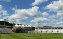 A general view of the ground during England's warm-up match, Ageas Bowl, Team Morgan v Team Moeen, July 22, 2020