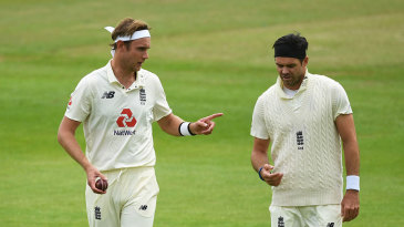 Stuart Broad and James Anderson discuss bowling plans