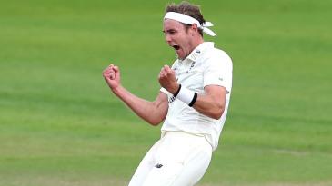 Stuart Broad roars in celebration