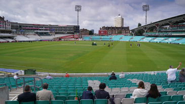 Spectators were allowed in at The Oval as part of a government pilot