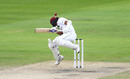 Shane Dowrich takes evasive action, England v West Indies, 3rd Test, Emirates Old Trafford, 3rd day, July 26, 2020