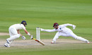 Substitute keeper Joshua Da Silva narrowly fails to pull off a stumping, England v West Indies, 3rd Test, Emirates Old Trafford, 3rd day, July 26, 2020