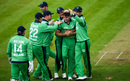 Josh Little is mobbed by his team-mates, Ireland v England, only ODI, Malahide, May 3, 2019