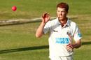 Alister McDermott prepares to bowl, Western Australia v Queensland, Sheffield Shield 2014-15, Perth, 2nd day, November 9, 2014