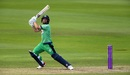 Andy McBrine flays one through the offside, England v Ireland, 2nd ODI, Southampton, August 1, 2020