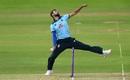 Saqib Mahmood prepares to uncoil, England v Ireland, 2nd ODI, Southampton, August 1, 2020