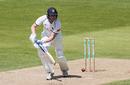 Rob Yates plays to the off side, Warwickshire v Northamptonshire, Edgbaston, Bob Willis Trophy, August 2, 2020