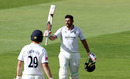 Tim Bresnan celebrates after scoring a century on his first class debut for Warwickshire, Warwickshire v Northamptonshire, Edgbaston, Bob Willis Trophy, August 2, 2020