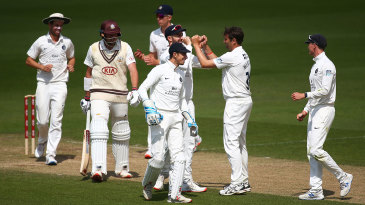 Tim Murtagh claims another wicket for Middlesex at The Oval