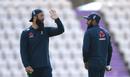 Moeen Ali and Adil Rashid in training, England training, Ageas Bowl, August 3, 2020
