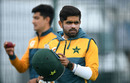 Babar Azam looks on in training, Emirates Old Trafford, August 3, 2020