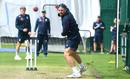 Jack Leach bowls in training, England training, Emirates Old Trafford, August 3, 2020