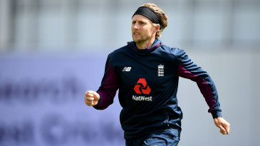 Joe Root goes through his paces in training