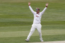 Simon Harmer belts out an appeal, Essex v Kent, Day 2, Cloudfm County Ground, Bob Willis Trophy, August 2, 2020