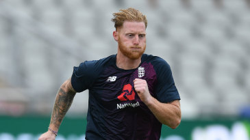 Ben Stokes sprints in England training