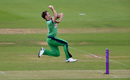 Curtis Campher leaps into his delivery stride, England v Ireland, 3rd ODI, Ageas Bowl, August 4, 2020