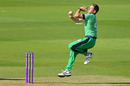 Craig Young in action, England v Ireland, 3rd ODI, Ageas Bowl, August 4, 2020