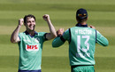 Curtis Campher celebrates with Harry Tector, England v Ireland, 3rd ODI, Ageas Bowl, August 4, 2020