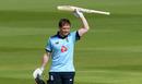 Eoin Morgan celebrates his century, England v Ireland, 3rd ODI, Ageas Bowl, August 4, 2020