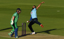 Saqib Mahmood prepares to send down a delivery, England v Ireland, 3rd ODI, Ageas Bowl, August 4, 2020