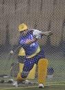 MS Dhoni hits out at the Chepauk nets, IPL 2020, Chennai, March 3, 2020