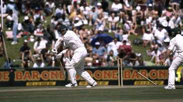 Mark Waugh is bowled by Allan Donald  for 5