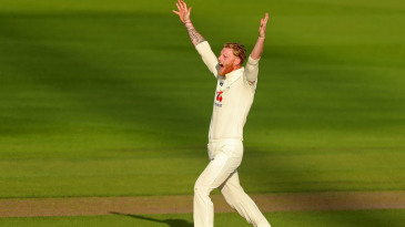 Ben Stokes roars for an lbw