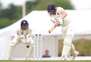 Martin Andersson forces through the off side, Middlesex v Hampshire, Bob Willis Trophy, Day 1, Radlett, August 8, 2020