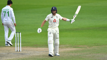 Jos Buttler acknowledges his fifty with a low-key celebration