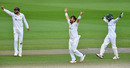 Azhar Ali, Yasir Shah and Mohammad Rizwan appeal in unison, England v Pakistan, 1st Test, Old Trafford, 4th day, August 8, 2020