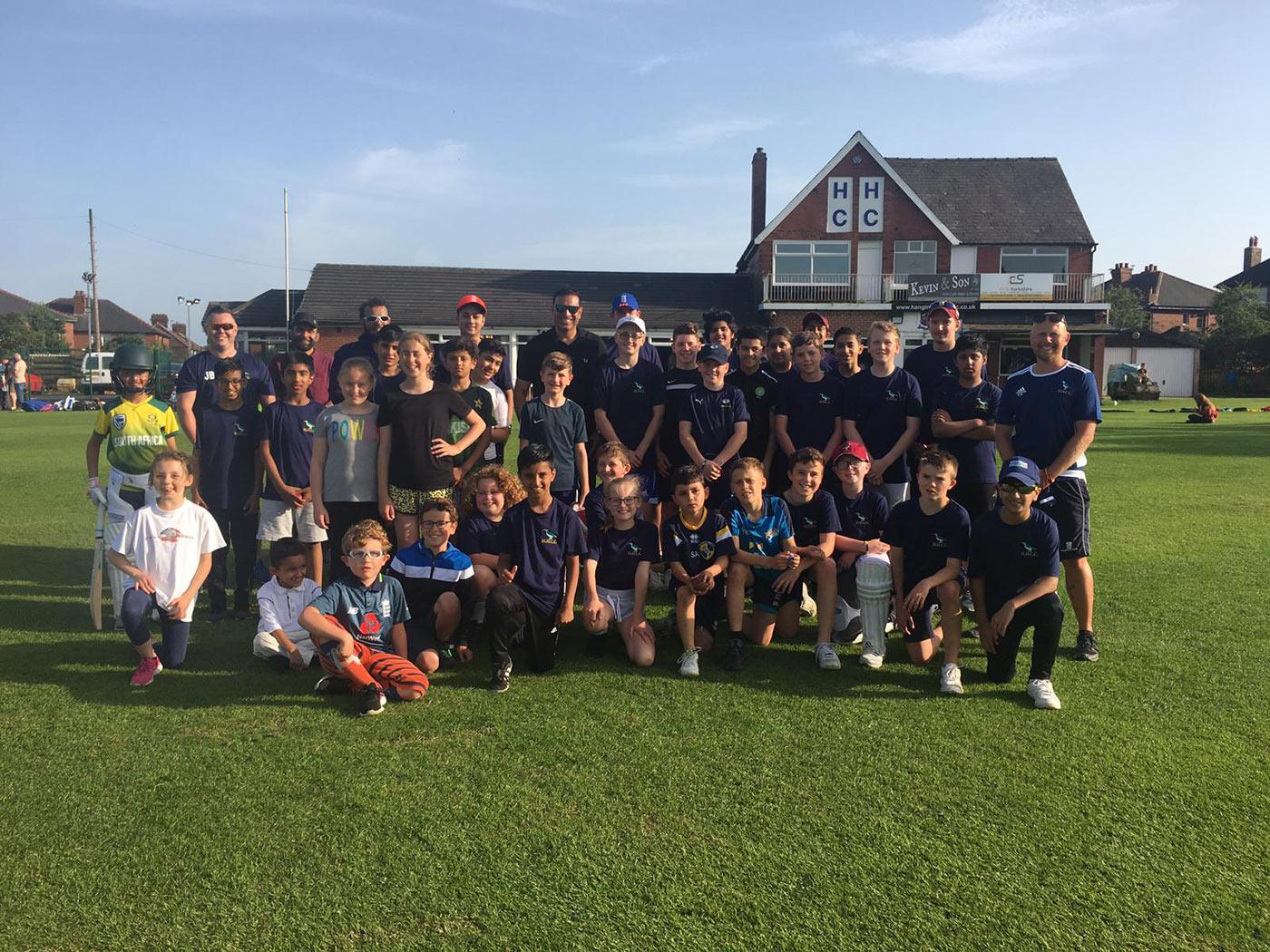 VVS Laxman at Hanging Heaton Cricket Club