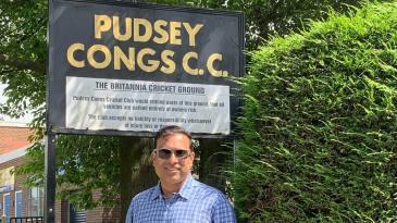 VVS Laxman at Pudsey Congs Cricket Club