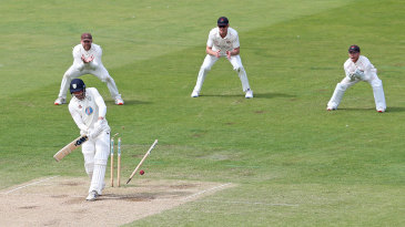Jack Burnham is bowled as Durham slump to defeat