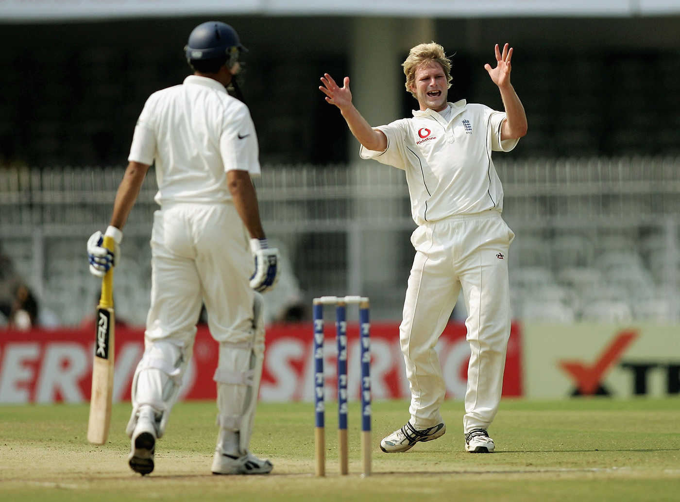 Hoggard gets Laxman at last, in the last Test the two featured in together, Nagpur in 2006