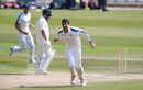 Duanne Olivier celebrates a wicket, Nottinghamshire v Yorkshire, Bob Willis Trophy, Trent Bridge, August 11, 2020
