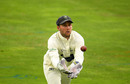 Chris Cooke catches a return throw, Somerset v Glamorgan, Taunton, Bob Willis Trophy, August 4, 2020