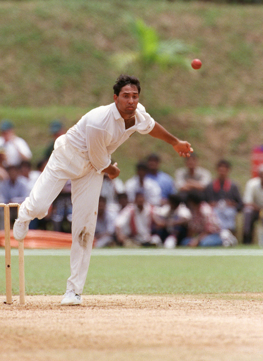 Laxman in the 1998 Commonwealth Games. He bowled plenty of offspin and medium pace in the Bradford League