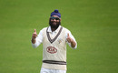 Amar Virdi gives a thumbs-up, Surrey v Middlesex, Kia Oval, Bob Willis Trophy, August 3, 2020