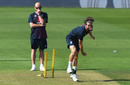 Chris Woakes bowls in training, England training, Ageas Bowl, August 12, 2020