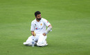 Azhar Ali mulls the situation at the drinks break, England v Pakistan, Ageas Bowl, 2nd Test, 1st day, August 13, 2020