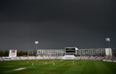 Dark skies and heavy rain held up play on the first afternoon, England v Pakistan, Ageas Bowl, 2nd Test, 1st day, August 13, 2020
