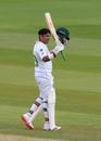 Abid Ali acknowledges his half-century, England v Pakistan, Ageas Bowl, 2nd Test, 1st day, August 13, 2020