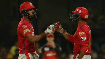 KL Rahul and Mayank Agarwal, two of the many Karnataka boys in the Kings XI Punjab team