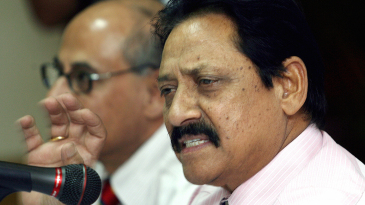 Chetan Chauhan addresses the media in his role as selector for the Afro-Asia Cup in 2007