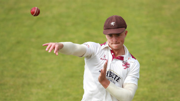 Tom Abell took three wickets for Somerset