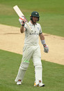 Riki Wessels raises his bat, Northamptonshire v Worcestershire, Bob Willis Trophy, Wantage Road, August 16, 2020
