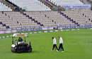 The umpires were out to inspect, England v Pakistan, Ageas Bowl, 2nd Test, 5th day, August 17, 2020