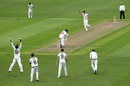 Kieran Bull of Glamorgan is caught by Gloucestershire wicketkeeper Gareth Roderick off the bowling of David Payne, Bob Willis Trophy Central Group, Glamorgan v Gloucestershire, day 3, Sophia Gardens, August 17, 2020